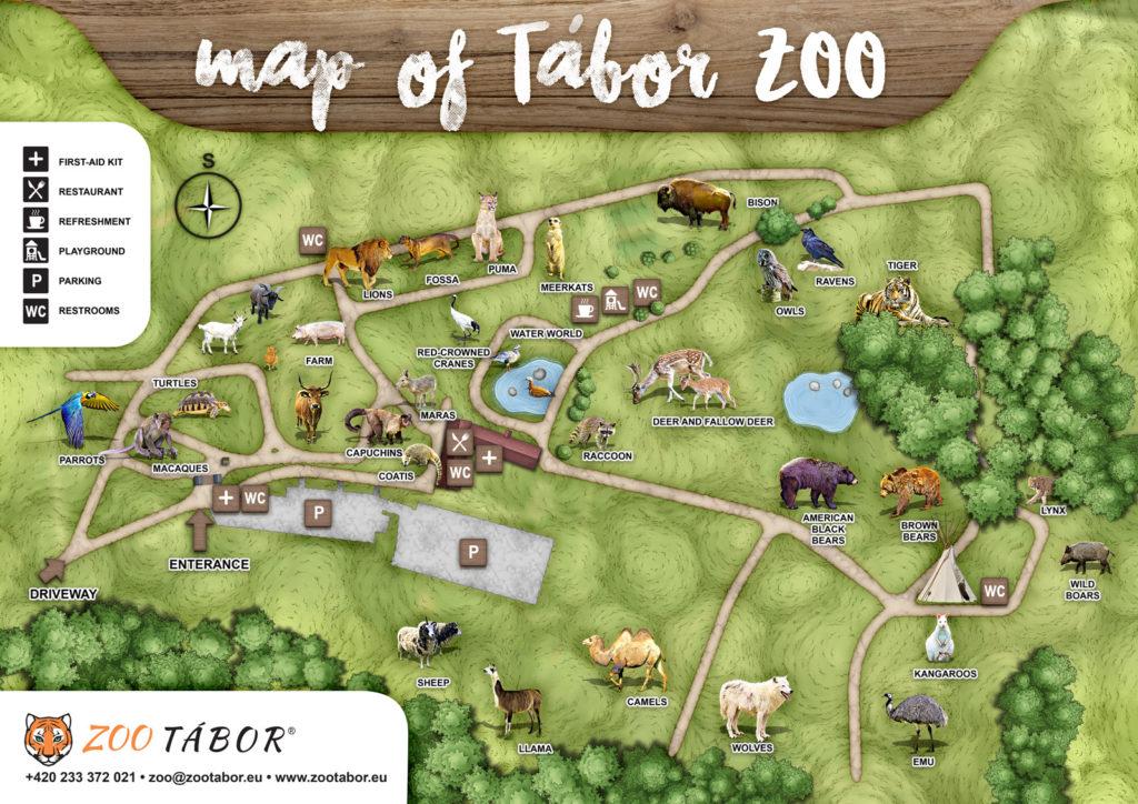 Tábor zoo map